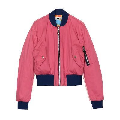 zip-up bomber jumper pink